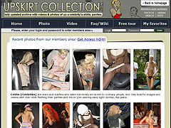 Celebs At Upskirt Collection